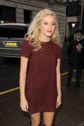 Pixie Lott in Mini Dress - Arriving at BBC Radio 2 Studios in London - Nov. 2014