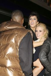 Pixie Lott Night Out Style - With Friends Outside the Faces Nightclub - Oct. 2014