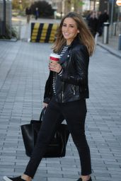 Rachel Stevens - Leaving a Manchester Hotel in Media City - November 2014