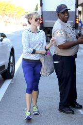 Reese Witherspoon in Leggings - Out in Los Angeles - November 2014