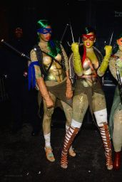 Rihanna Dressed as Raphael (TMNT) - Halloween Party at Opus Nightclub in New York