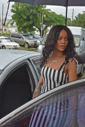 Rihanna - Visiting Queen Elizabeth Hospital in Barbados - November 2014