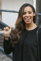 Rochelle Humes (The Saturdays) - Outside the ITV Studios in London - Nov. 2014