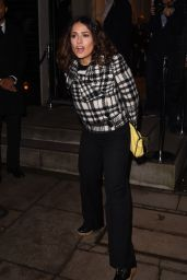 Salma Hayek at the Stella McCartney Shop Christmas Lights Switch On in London