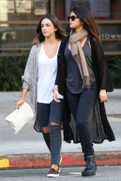 Selena Gomez Street Fashion - Leaves Starbucks in Los Angeles, November 2014