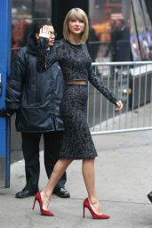 Taylor Swift Arriving to Appear at Good Morning America in New York City - November 2014