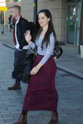 Tina Barrett – Leaving a Manchester Hotel in Media City – November 2014