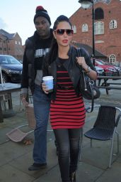 Tulisa Contostavlos Street Style - Out in Manchester - November 2014