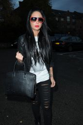 Tulisa Contostavlos Style - Arriving at Key 103 Radio Station in Manchester - November 2014