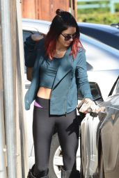 Vanessa Hudgens Booty in Tights - Out in Studio City - November 2014