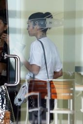 Vanessa Hudgens in Leggings - Leaving the Gym in Los Angeles, November 2014