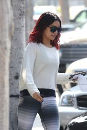 Vanessa Hudgens in Leggings - Out in Beverly Hills - November 2014