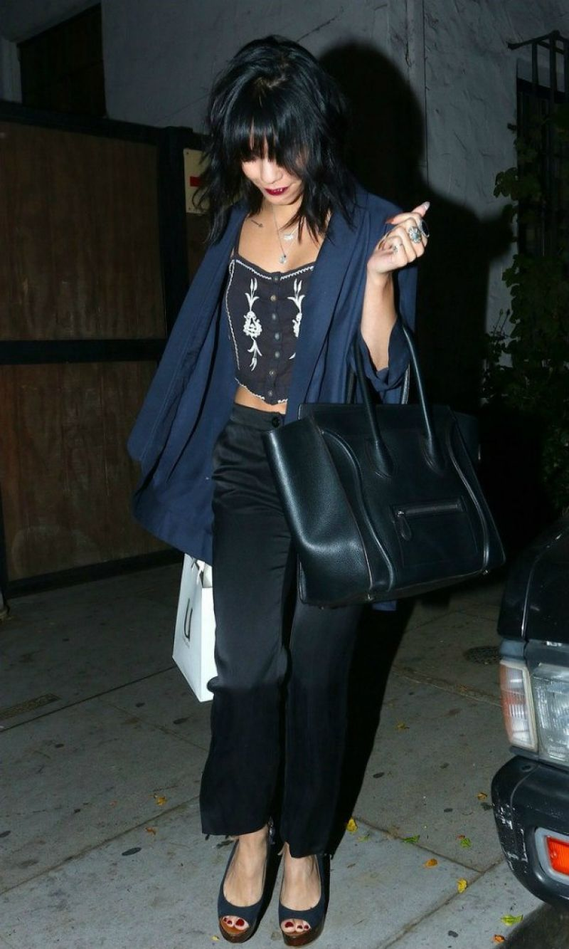 Vanessa Hudgens Night Out Style - Leaving Nine Zero One in West Hollywood, November 2014
