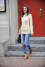 Victoria Justice in Ripped Jeans - Out in Brooklyn, November 2014