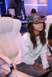 Zendaya and Sean Kingston at a Recording Studio - November 2014
