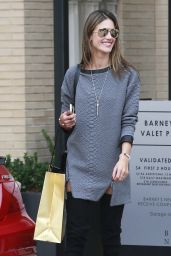 Alessandra Ambrosio in Thigh High Boots and Short Mini Skirt - Shopping in L.A.