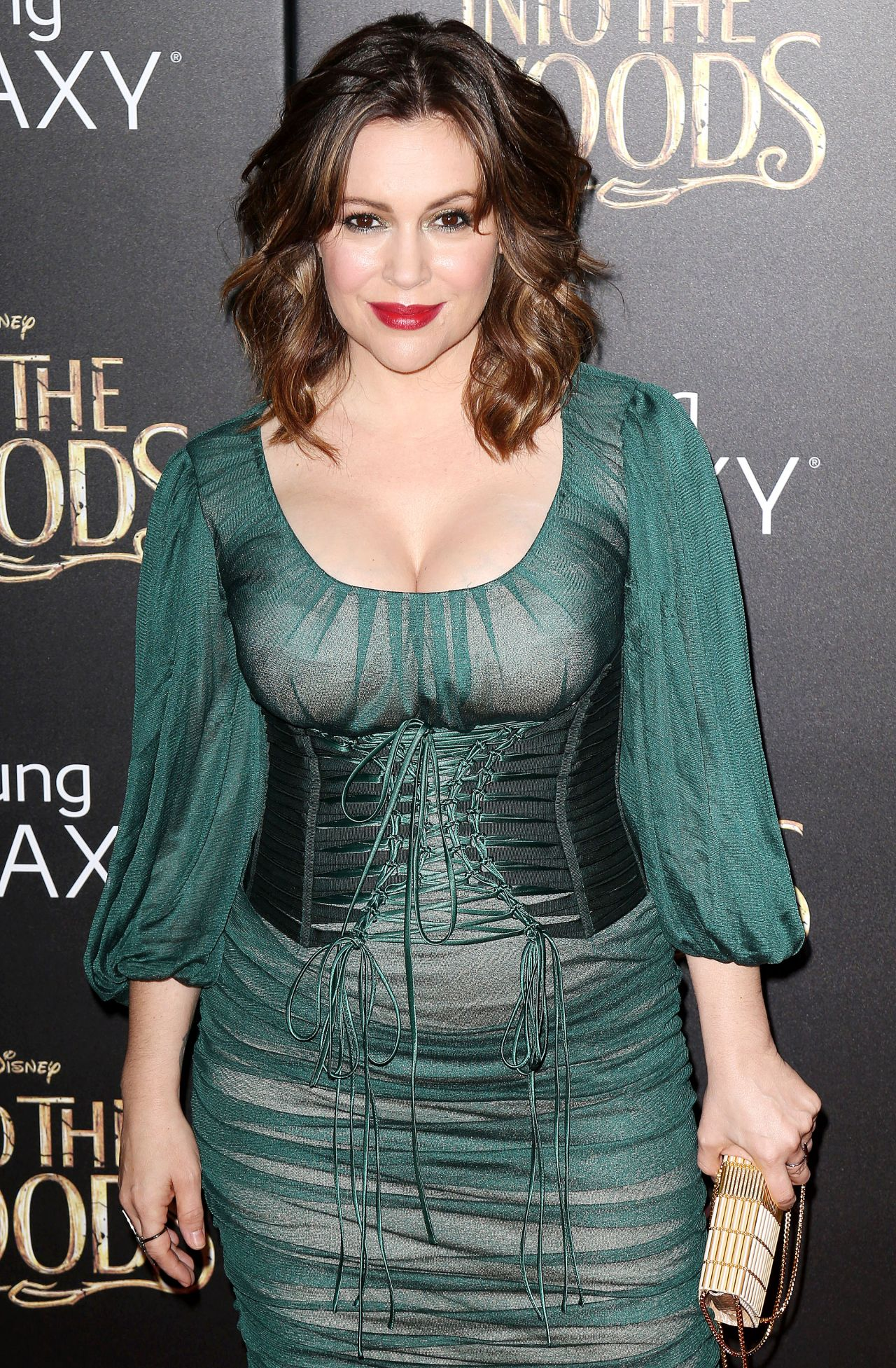 Alyssa Milano Into The Woods Premiere In New Yortk City