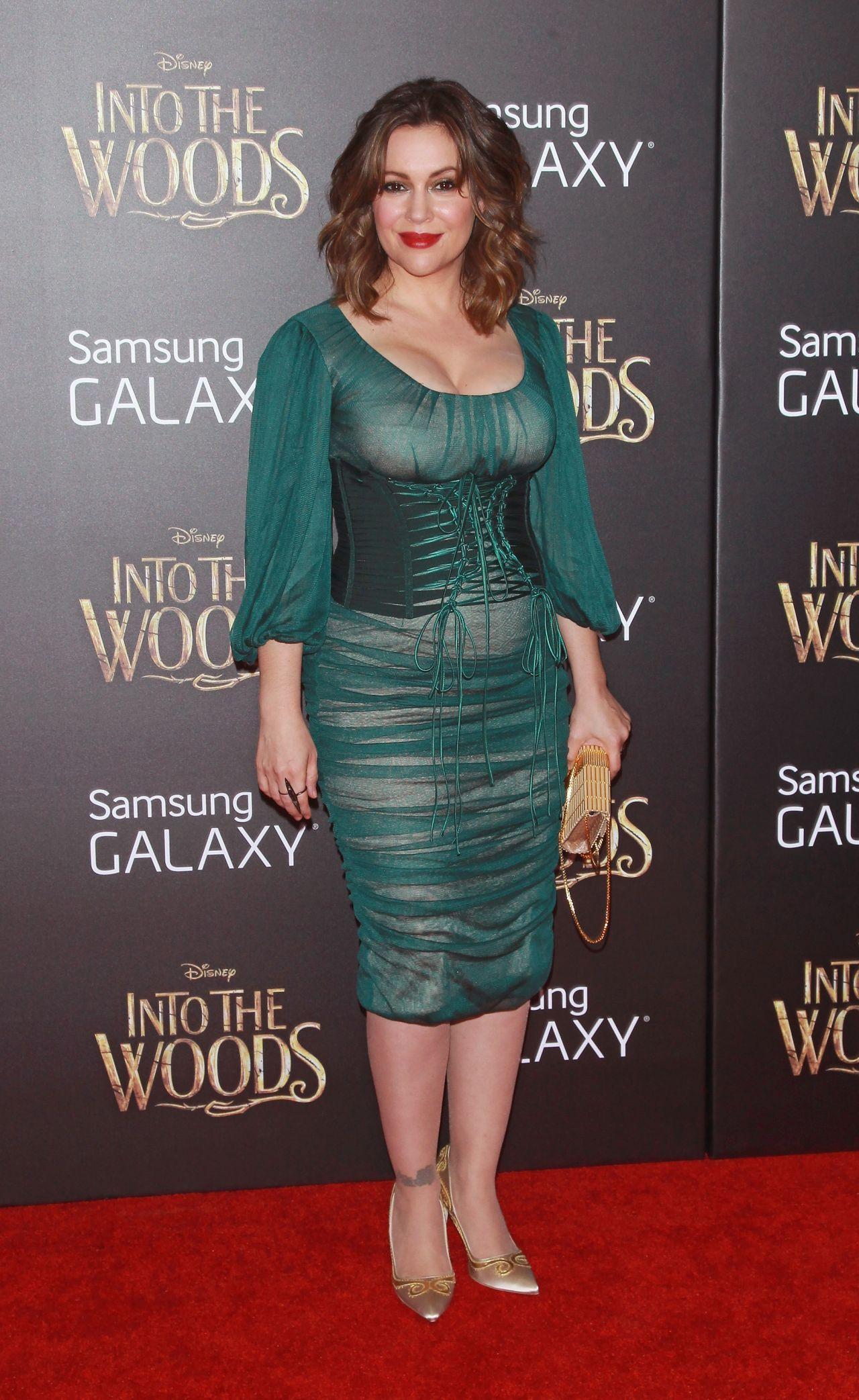 Alyssa Milano Into The Woods Premiere In New Yortk City