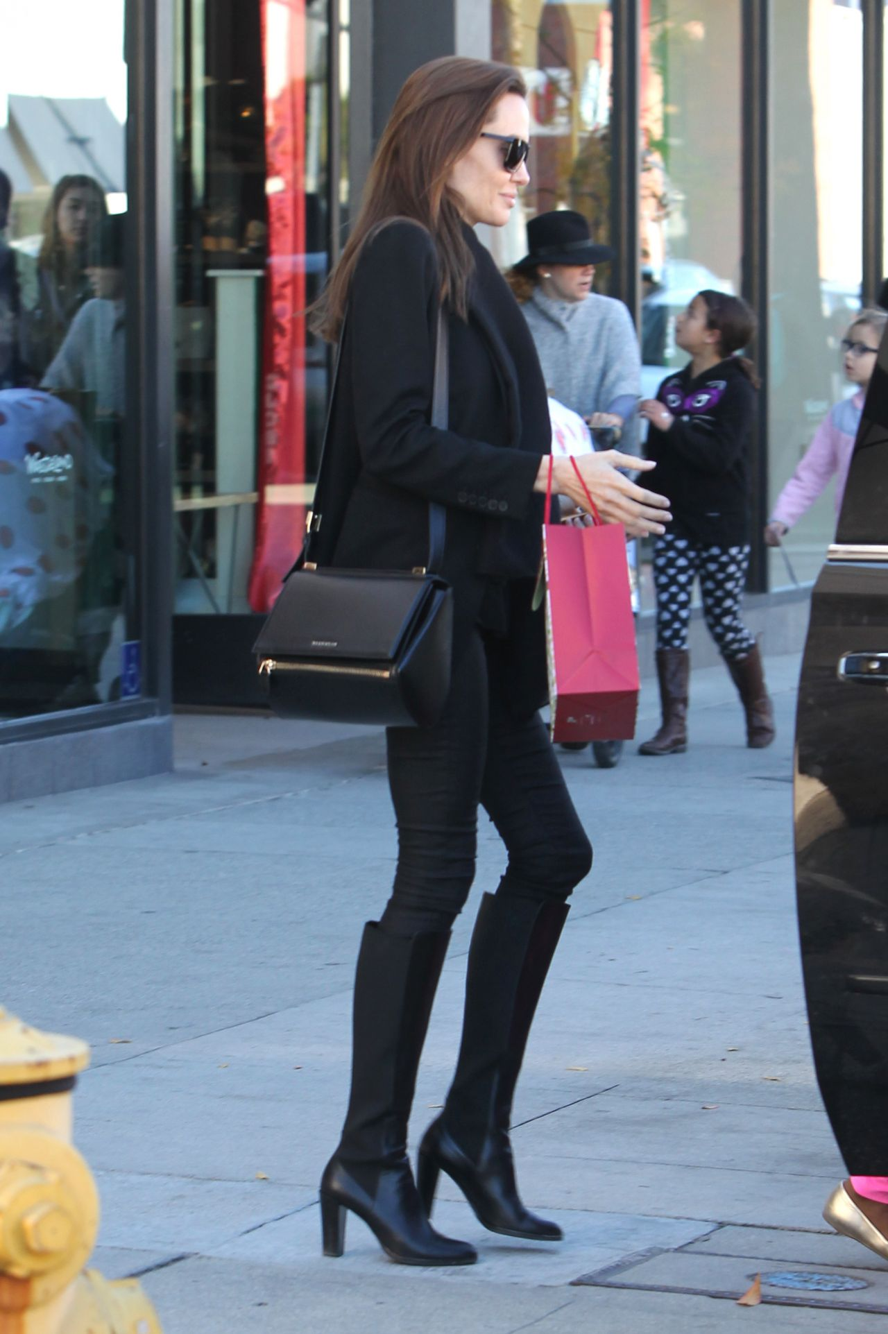 Angelina Jolie Style - Shopping at M. Fredric in Los Angeles, Dec. 2014