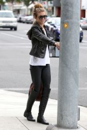 AnnaLynne McCord Street Fashion - Out in Beverly Hills - December 2014
