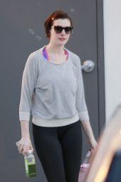 Anne Hathaway in Spandex - Out in West Hollywood - December 2014
