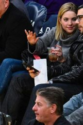 Ashley Benson Attends a Lakers Game in Los Angeles, Dec. 2014
