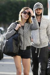 Ashley Greene Leggy in Shorts - Out in Studio City - December 2014
