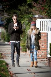 Ashley Tisdale in Ripped Jeans - Out for a Stroll in Studio City, Dec. 2014