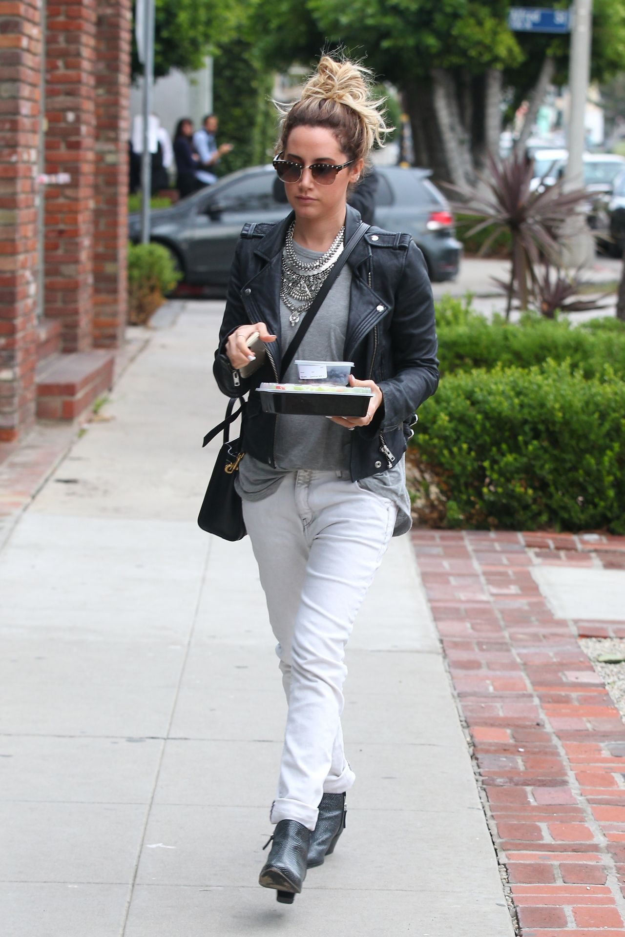 Ashley Tisdale Street Style - Shopping and Getting Some Food in West Hollywood - Dec. 2014