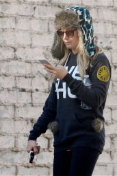 Ashley Tisdale Street Style - Stepping out in Los Angeles - December 2014