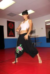 Bai Ling - Martial Arts Training in Los Angeles - December 2014