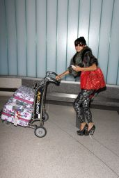 Bai Ling Style - at LAX Airport, December 2014