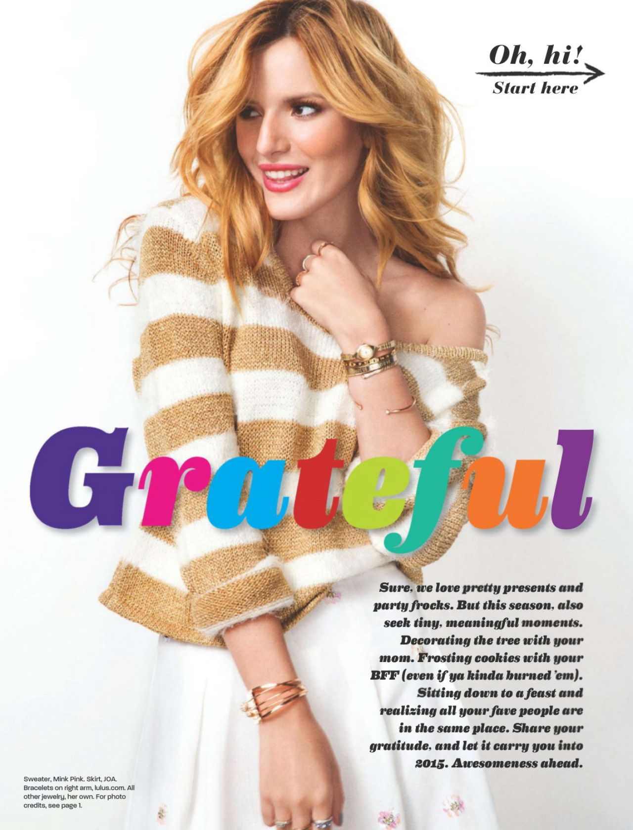 Bella thorne life information - Bella thorne girls life magazine december 2014 january 2015 issue