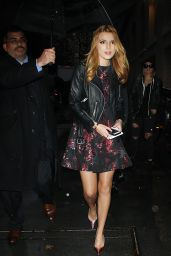 Bella Thorne Night Out Style - Arriving at The View in New York City - December 2014