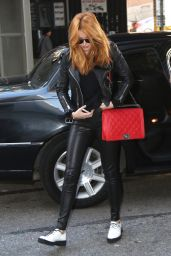 Bella Thorne Style - Arriving at a studio in New York City - November 2014