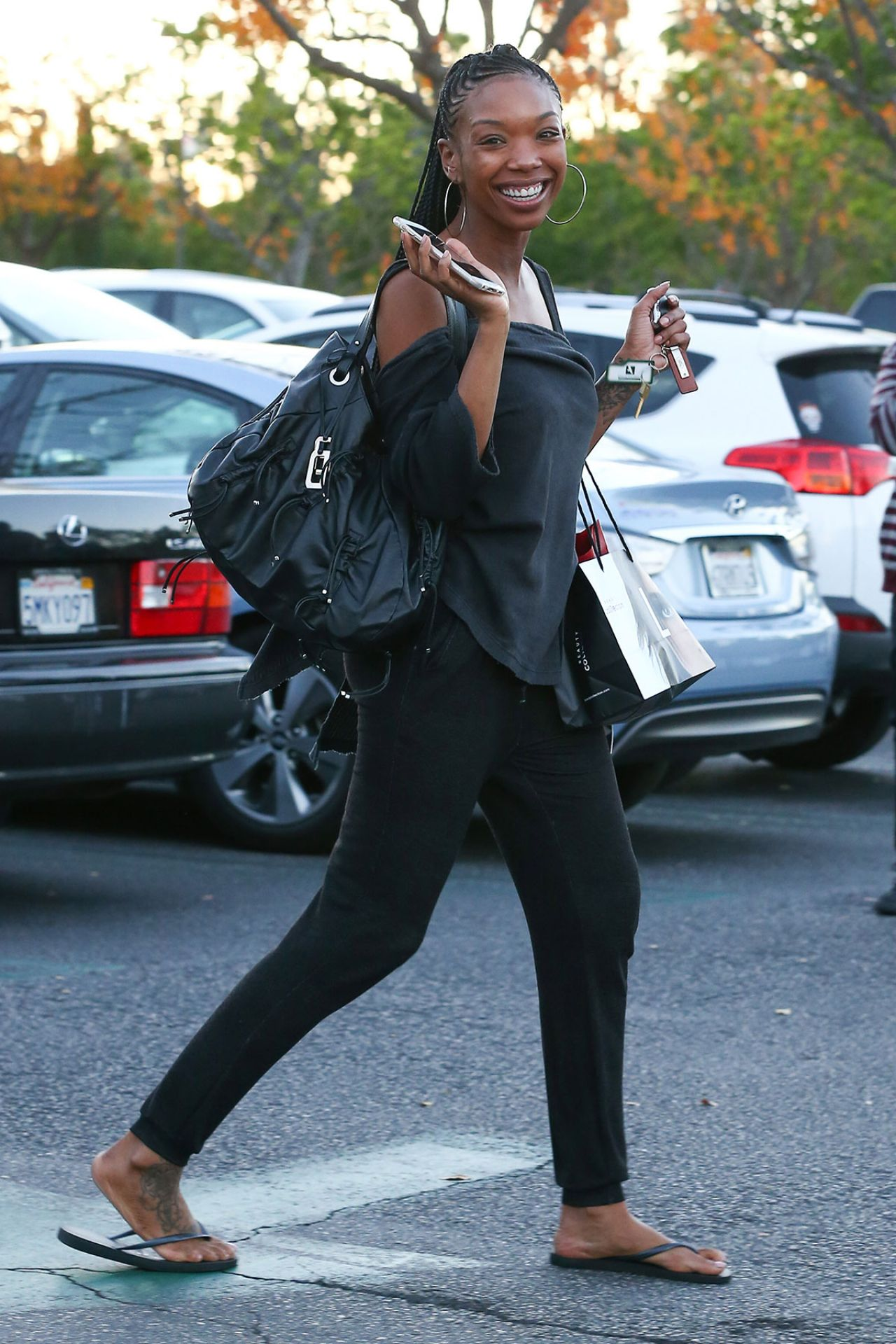 Brandy Norwood Out Shopping In Los Angeles December 2014