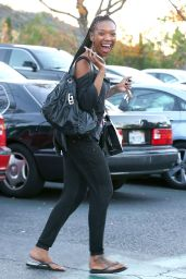 Brandy Norwood - Out Shopping in Los Angeles - December 2014