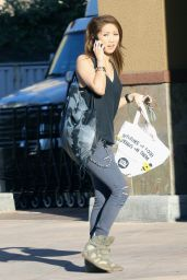 Brenda Song in Ripped Jeans - Out in Los Angeles, December 2014