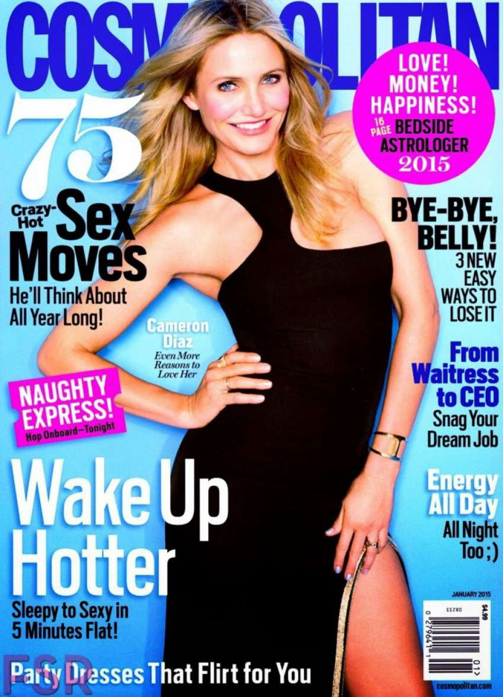 Cameron Diaz – Cosmopolitan Magazine (USA) January 2015 Covers