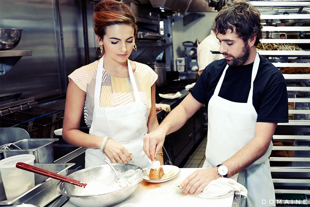 Camilla Belle Sexy Celebrity Legs: Cooking Lobster Roll With Jon Shook