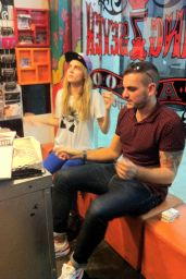 Cara Delevingne at Tattoo Parlor in Brazil - December 2014
