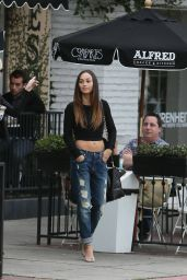 Cara Santana in Ripped Jeans - Leaving Alfred Coffee & Kitchen in Beverly Hills
