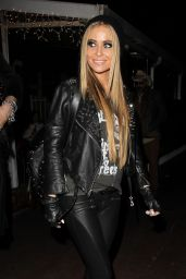 Carmen Electra Night Out Style - Leaving the Rainbow Room in Los Angeles, Dec. 2014