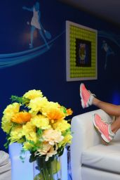 Caroline Wozniacki Relaxes during Coca-Cola International Premier Tennis League - December 2014