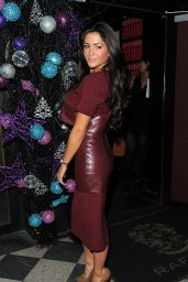 Casey Batchelor Night Out Style - Leaving Raffles Club in Chelsea - December 2014
