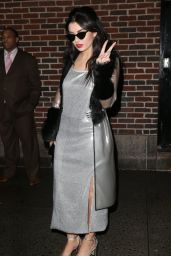 Charli XCX Style - Arriving at the Late Show with David Letterman in New York City - Dec. 2014