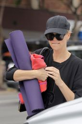 Charlize Theron - Attending a Yoga Session in Los Angeles, December 2014