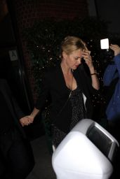 Charlize Theron Night Out Style - Leaving Mr. Chows in Los Angeles - Dec. 2014