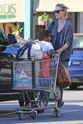 Charlize Theron - Shopping at Whole Foods in Los Angeles, December 2014