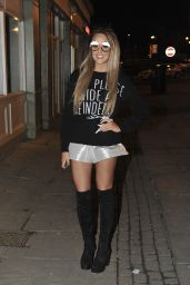 Charlotte Crosby - Night Out Style - Sunderland, December 2014